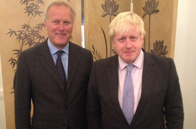 Lord Marland (Treasurer, Atlantic Partnership UK) and Boris Johnson, Mayor of London