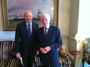 Bob Dudley with Lord Powell